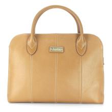 aretha 141330 Genuine Leather top handle bag khaki