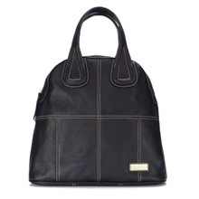 aretha 141450 Genuine Leather shoulder bag black