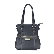 aretha 151041 Genuine Leather shoulder bag black