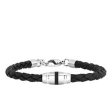 aretha BR53048-18+3 316L Stainless Steel Bracelet black