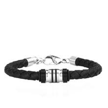 aretha BR53093-20+3 316L Stainless Steel Bracelet black