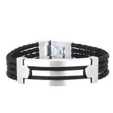 aretha BR53083-21 316L Stainless Steel Bracelet black