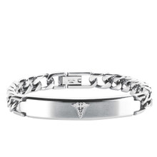 aretha MOBR386-21 316L Stainless Steel Bracelet silver
