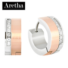 aretha ER82154 316L Stainless Steel Earrings black