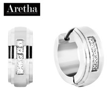 aretha ER52137 316L Stainless Steel Earrings silver