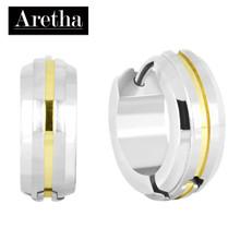 aretha ER62015 316L Stainless Steel Earrings silver