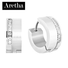 aretha ER52154 316L Stainless Steel Earrings silver