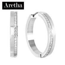 aretha ER52156 316L Stainless Steel Earrings silver