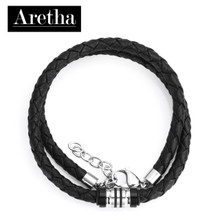 aretha CH53093-45+5 316L Stainless Steel Necklace black