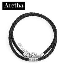 aretha CH53091-45+5 316L Stainless Steel Necklace black