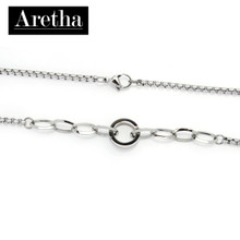 aretha MONR331-45 316L Stainless Steel Necklace silver