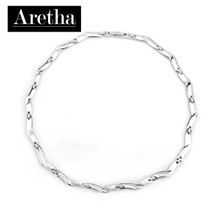 aretha CH51008-CZ-42+3 316L Stainless Steel Necklace silver