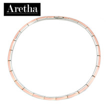aretha CH53166-IPR-42+3 316L Stainless Steel Necklace rose gold