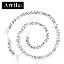 aretha CH50408-50+5 316L Stainless Steel Necklace silver