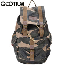 Gootium 21101CAM Specially High Density Thick Canvas Backpack Rucksack (camouflage)