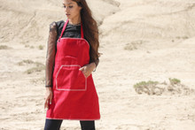 New Woocao Cotton Garden kitchen Cooking BBQ Chefs Apron with Front Pocket Red