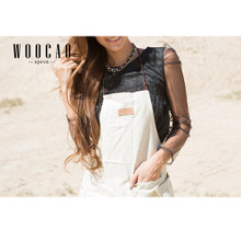 New Woocao Linen Cotton Apron Craft Kitchen Cooking BBQ Party Front Pocket White