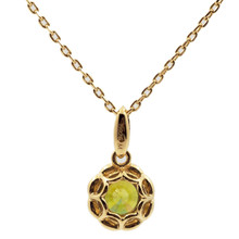 Mnemosyne Elvira peridot pendant necklace Gold plated 925 silver Fine jewelry pendant necklace