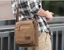 canvas vintage men messenger bag