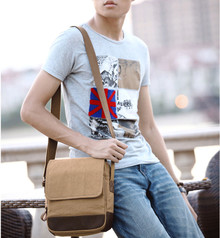 Canvas men messenger cross body bag