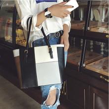 Leather women large shoulder handbag  purse  Multi Color