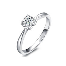 Classic Solitaire Engagement Ring, Diamond Ring, 18K White Gold Ring, Solitaire Ring