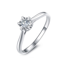 CLASSIC SOLITAIRE ENGAGEMENT RING, 18K WHITE GOLD RING, SOLITAIRE RING