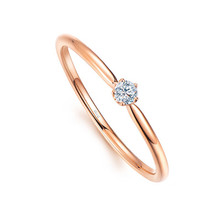 18K Gold SOLITAIRE Diamond Ring, ENGAGEMENT RING ROUND CUT HALO SOLID 18K GOLD