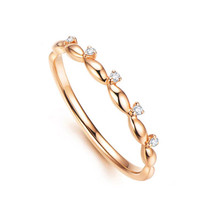 STACKABLE DIAMOND WEDDING CLAW SET BAND  RING IN 18K GOLD CUSTOMIZE