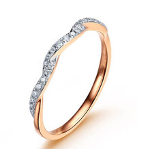 STACKABLE DIAMOND WEDDING CLAW SET BAND TWIST DIAMOND RING IN 18K GOLD CUSTOMIZE