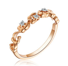 18K GOLD STACKABLE DIAMOND WEDDING CLAW SET BAND DESIGNER DIAMOND RINGCUSTOMIZE