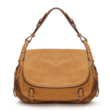 Waterproof Leather classic vintage  women  casual hobo crossbody bag