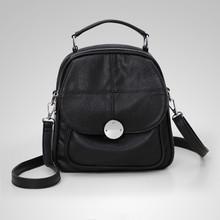 Waterproof Leather women  vintage  crossbody bag backpack