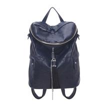 Leather tassel fashion women duffle backpack shoulder crossbody bag