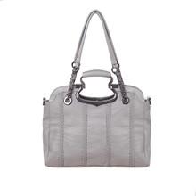 Waterproof leather casual satchel crossbody shoulder bag