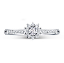 18 KT GOLD CROWN DIAMOND ENGAGEMENT RING, PROMISE RING,