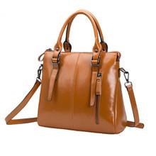Waterproof Leather classic  women casual handbag shoulder tote bag