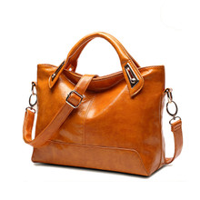 Waterproof genuine cow Leather classic  women casual handbag shoulder tote bag