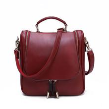 Waterproof  Leather women girl small tote handbag shoulder bag backpack