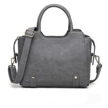 Leather women medium shoulder tote handbag cross body purse