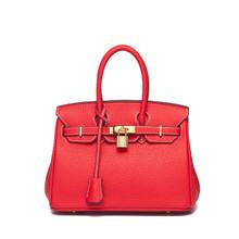 Waterproof leather women medium shoulder tote handbag crossbody purse