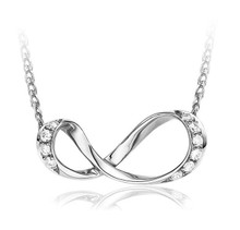 18KT twist bow diamond pendant necklace