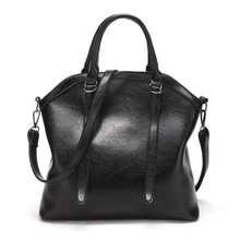 WATERPROOF LEATHER CLASSIC WOMEN CASUAL HANDBAG SHOULDER TOTE BAG