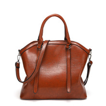WATERPROOF LEATHER CLASSIC WOMEN CASUAL HANDBAG SHOULDER TOTE BAG Brown