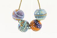 Magdalena - Purple/Blue/Orange Bead Set