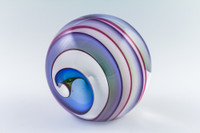 Chris Steffens Rainbow & White Helix Paperweight