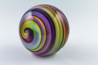 Chris Steffens Large Rainbow Helix Paperweight