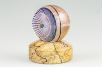 Spalted Maple - Wooden Marble Stand #1