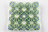 Xander D'Ambrosio - Green and Blue Multicellular Glass Plate