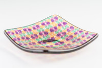 Xander D'Ambrosio - Four Color Tilted Checkerboard Murrine Plate